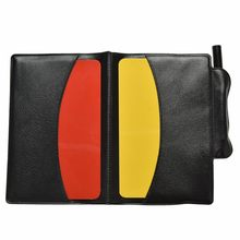 1PCS Red Yellow Personalized Hot Referee Card Pencil Notebook Holder Sheet Set Note Notebook(China)