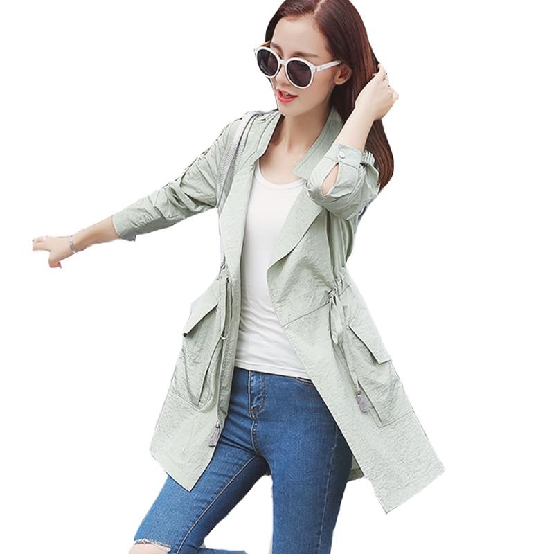 Gris Printemps Pink Trench Vêtements Mode Femme Manteau gray Casual Green Outwear Sexemara Manteaux Mince Femmes Ceinture Hfj047 Avec light Rose 7Aw5a5