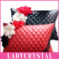 Ladycrystal Automotive Interiors Obsidian Four Seasons Waist Pillow Car Neck Lumbar Pillow High Quality PU Leather Pillow