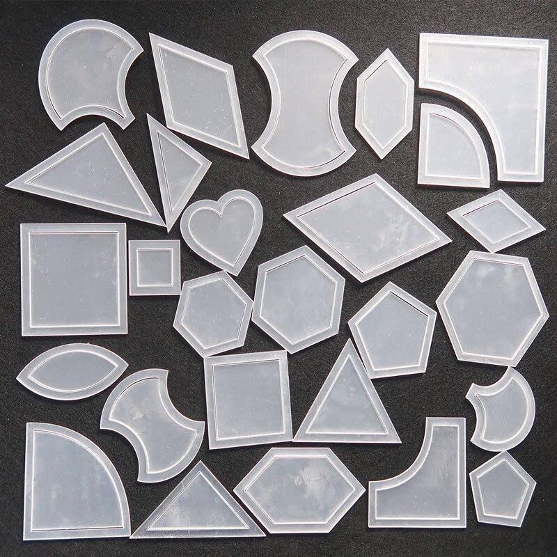 54 pcs Réutilisable Mixte Couette Modèle En Plastique Outil BRICOLAGE pour Patchwork Quilter Kit