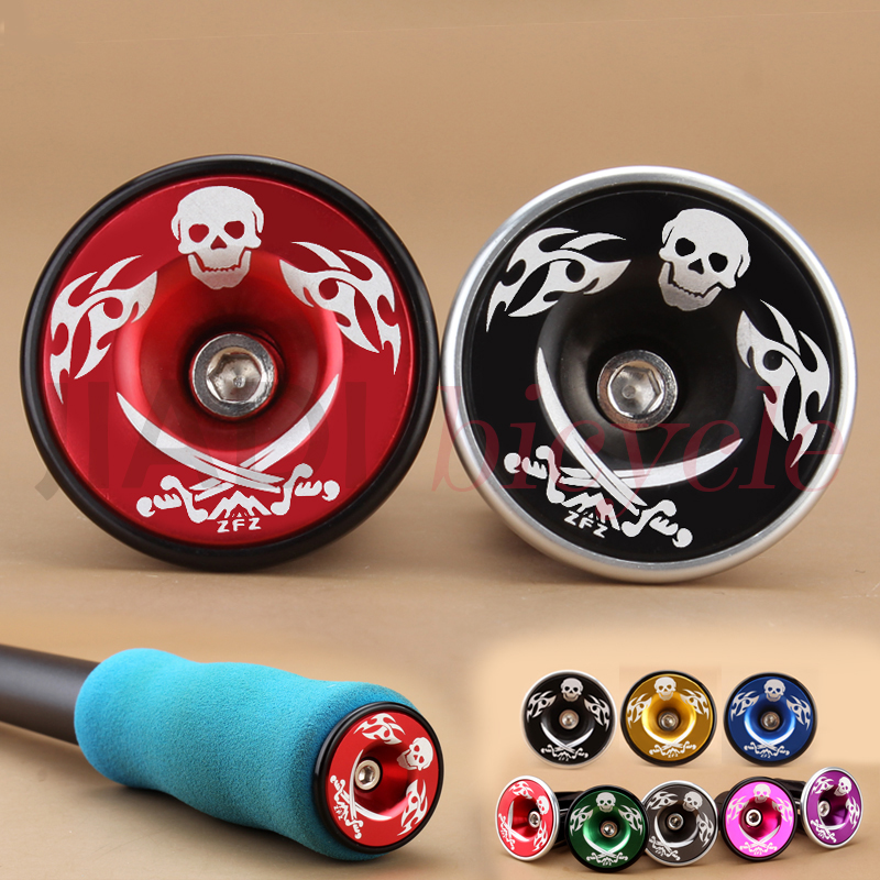 Bicycle Bike Handlebar Grips Aluminum alloy Handlebar End Plugs +Adjustable Cover MTBCyclng Handle Bar Cap Practical Accessories