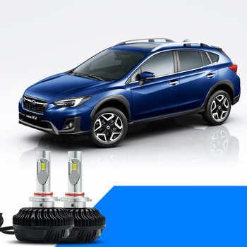 Lsrtw2017 LED 車のヘッドライトのハイビーム、ロービームライト電球スバル xv 2012 2013 2014 2015 2016 2017 2018 2019