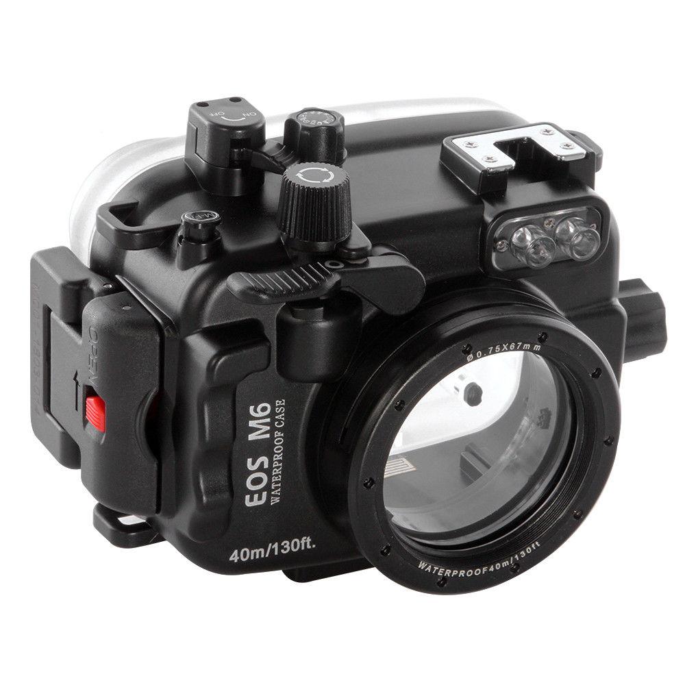 Boîtier de plongée pour caméra sous-marine étanche PRO 40 m/130ft pour Canon EOS M6 22mm