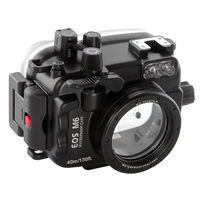 PRO 40m/130ft Waterproof Underwater Camera Diving Housing Case for Canon EOS M6 22mm