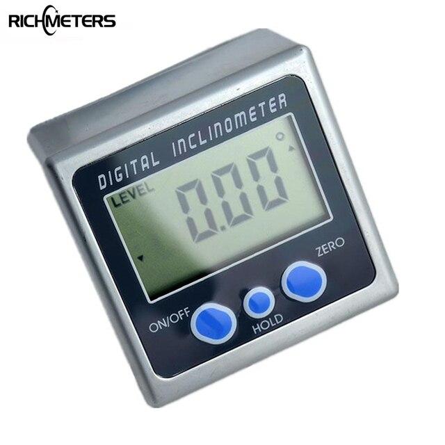 Digital Angle Finder >> Digital Protractor Inclinometer Bevel Box Level Measuring Tool