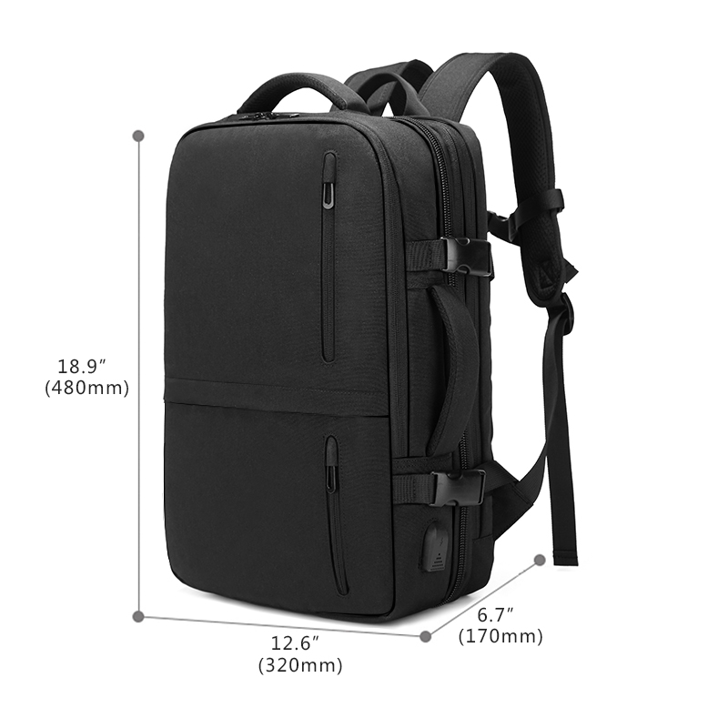 Multifunction 15.6 inch Laptop Backpack Large Capacity Expansion with USB Charging Port Travel Backpacks Water Repellent n1711-in Backpacks from Luggage & Bags    3