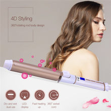 Professional Salon Ceramic Hair Curling Iron LED Digital Temperature Adjustment Wand Curler Roller Curls Styler Styling Tools(China)