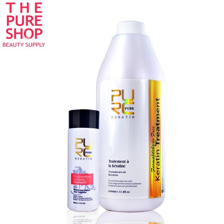 Formaldéhyde livraison brésilien kératine traitement des cheveux 1000 ml haute qualité kératine défrisage produits bon effet