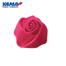 YAMA Single Face Satin Ribbon Bud Rose Diameter 30mm±5mm 100pcs/bag for Girl Dress Gift Flower Diy Toy Wedding Decoration