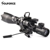 Tactical 4 16X50EG Rifle Scope Holographic Dual Illuminated Dot Sight with Red/Green Laser Combo for Rifle Airsoft Gun Sight