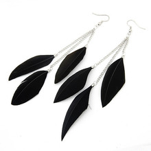 Long Feather Tassel Drop Ethnic Earrings New Brincos For Women