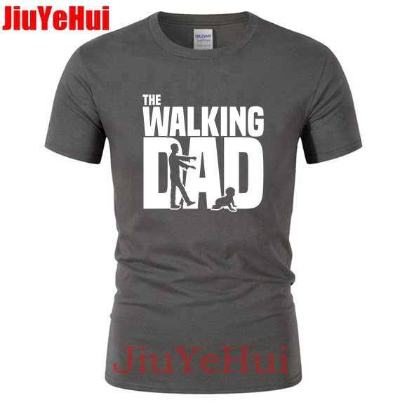 Omnitee The Walking Dad   T     Shirt   Men Tops Casual Father's Day   T     Shirts   Short Sleeve Men'S Funny Dad Gift   T  -  shirt   Tee Tshirt