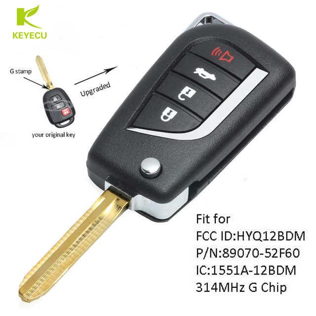 Key Fob Shell fits 2013-2016 Toyota Prius C Rav4 Keyless Entry ...