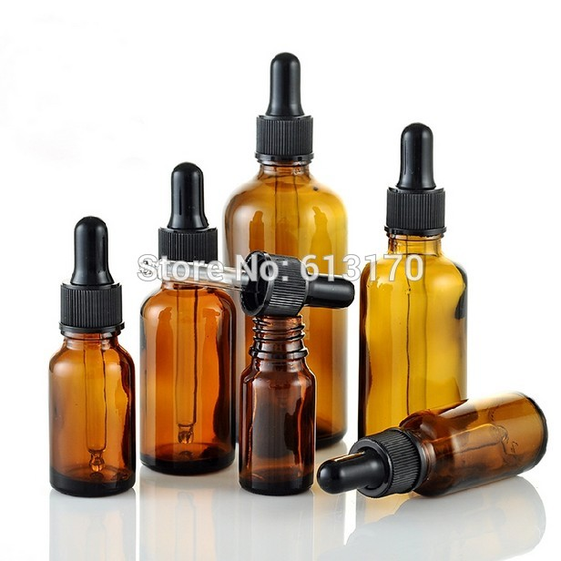 New arrival 5ml,10ml,15ml,20ml,30ml,50ml,100ml Amber Glass bottles With Dropper,Empty Essential Oil Glass Vials White rubber 50pcs plastic ldpe squeezable dropper bottles eye liquid empty new 88 hjl2017