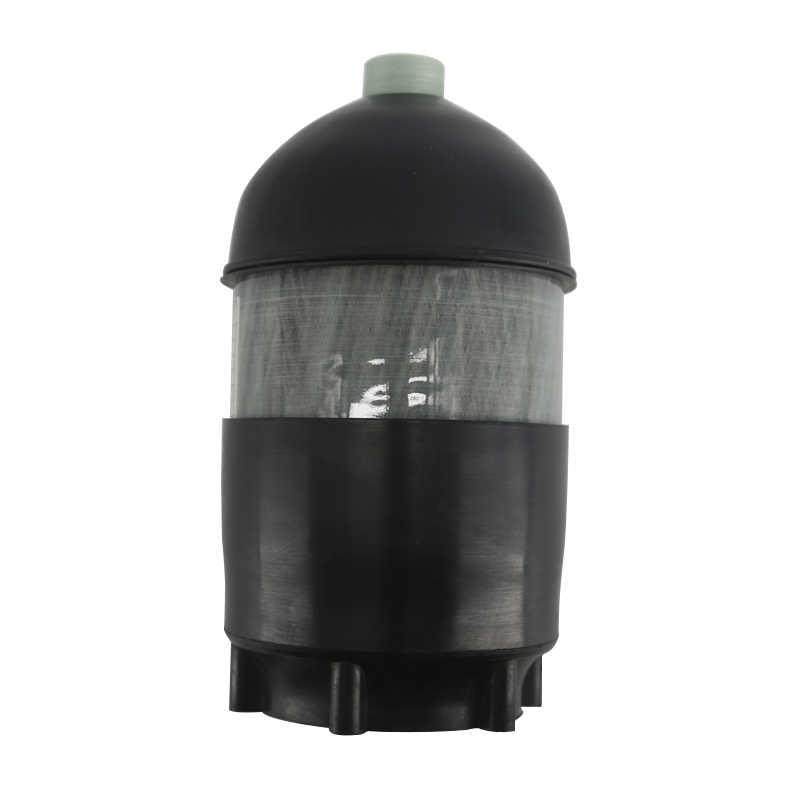 AC50201 2L CE Scuba Tank/Tauchen 4500psi Carbon Faser Zylinder Pcp Mini/Druck/Paintball Air Tank/ gun + Abdeckung Gummi Protector