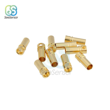 цена на 10Pcs Male Female Bullet Banana Connector Plug 3.5mm Gold Plated Copper Connector Kits for ESC Battery Motor