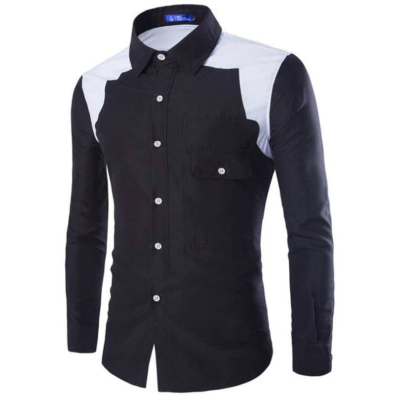 Extrêmement Brand White Men Shirt Long Sleeve Chemise Homme 2016 Autumn  GJ95