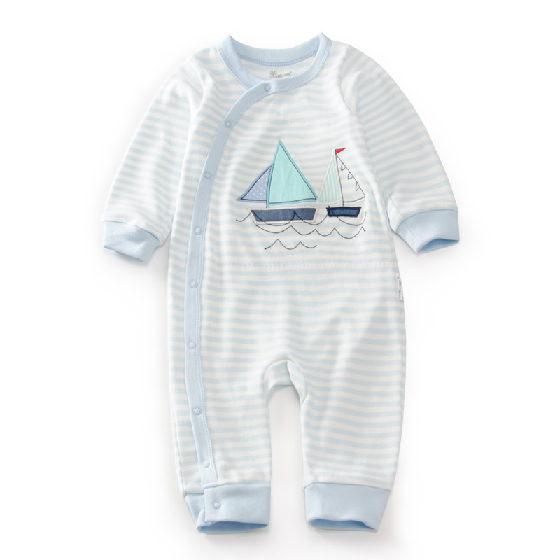 Baby Winter Character Boat Rompers Newborn Blue Stripe