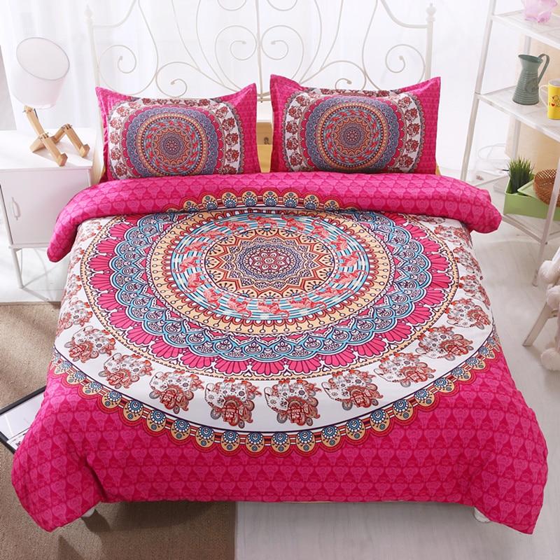 FANAIJIA bohemian  bedding cover sets boho printed 3d duvet cover Mandala 3pcs Pillowcase queen size Bedlinen