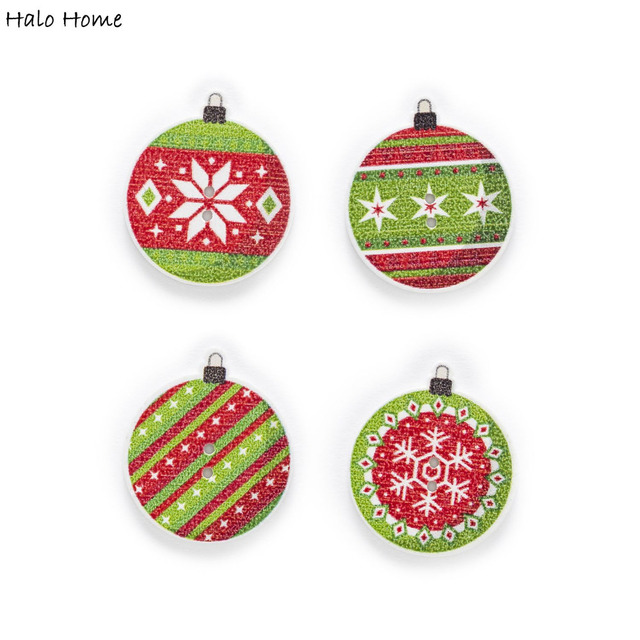 Halo Christmas Ornament.50pcs Christmas Egg Wood Buttons Sewing Flatback Scrapbooking Kids Craft Diy Clothing Decor 26x23mm In Buttons From Home Garden On Aliexpress Com