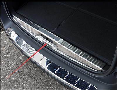 Stainless Inner Rear Sill Bumper Cover Plate 1pcs For Peugeot 5008 GT 2017 Chromium Styling     - title=