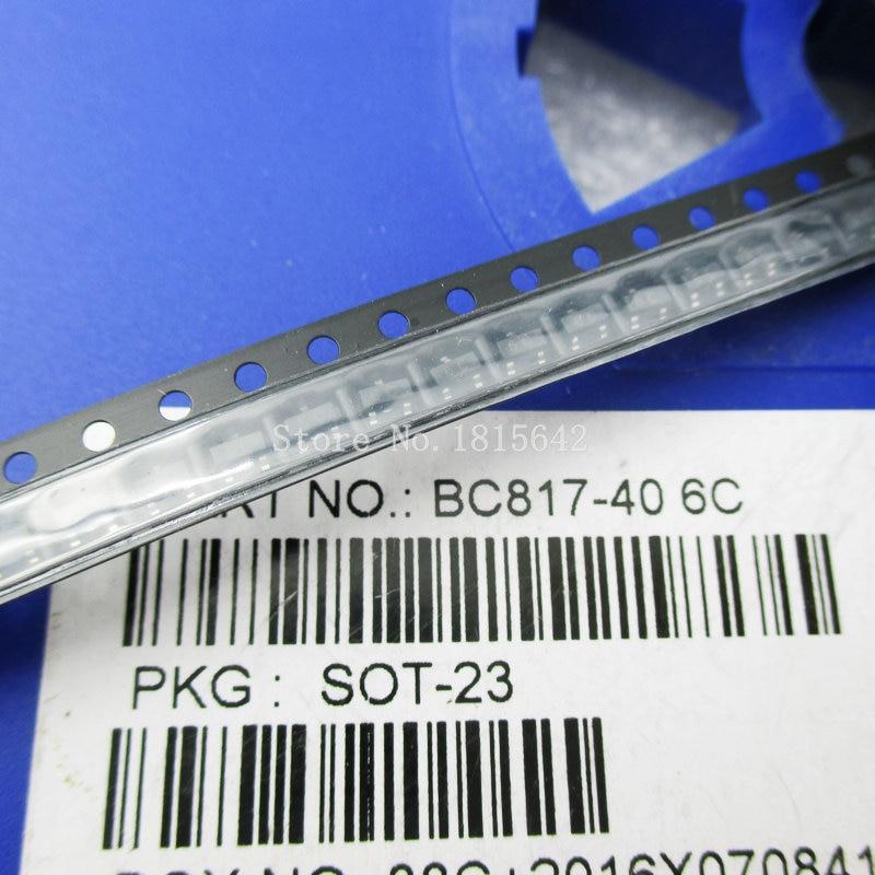 100PCS/Lot BC817 BC817-40 SOT-23 NPN Mark 6C 0.1A/45V General Purpose Transistor SMD Triode