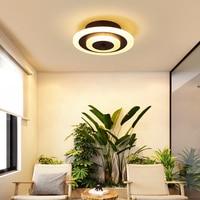 Modern Led ceiling lights for hallway balcony bedroom study room glass luster plafonnier home Deco ceiling lamp AC90 265V