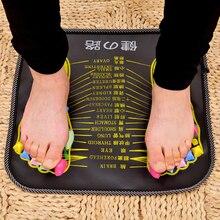 1Pc Acupuncture Cobblestone Foot Reflexology Massage Pad Walk Stone Square Foot