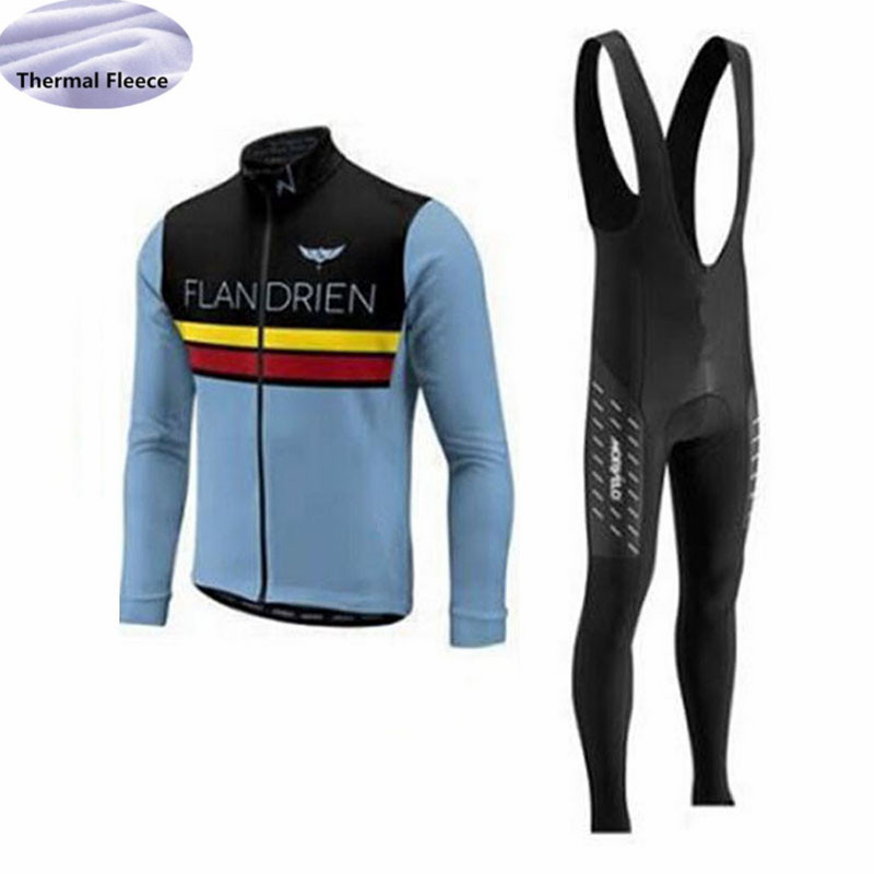 Image 5 - Winter Fleece Thermal Men Cycling Jersey set Morvelo team Long Sleeves Cycling clothing Wear bib pants Maillot Ropa Ciclismo-in Cycling Sets from Sports & Entertainment