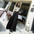 Fall Spring High Waist Solid Woman 6XL 7XL Plus Size Wide Lge Pants Fashion Elegant Runway Long Loose Warm Pants For Women