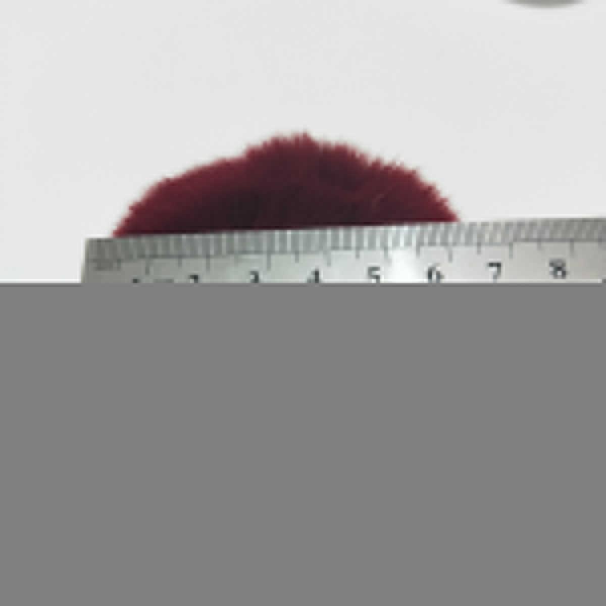 Mulheres Bolsa Charme 8 cm de Pele de Imitação De Pele Pompom Bola Pom pom com Elástico Duplo Cores Gradiente Acessórios Keychain Llaveros