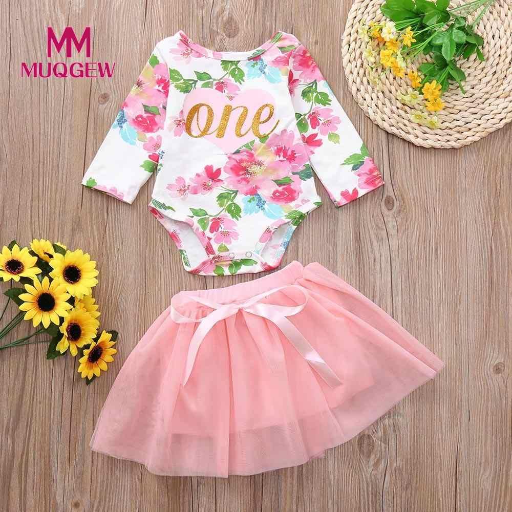 c6ae2ff97b8b MUQGEW Baby Girl Clothes Set 2Pcs 0-24M Infant Girl Floral Print Romper  Tulle Tutu