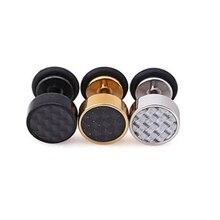 1 пара, крутые серьги-гвоздики, модные круглые серьги для мужчин и женщин, рок, поддельные серьги-гвоздики