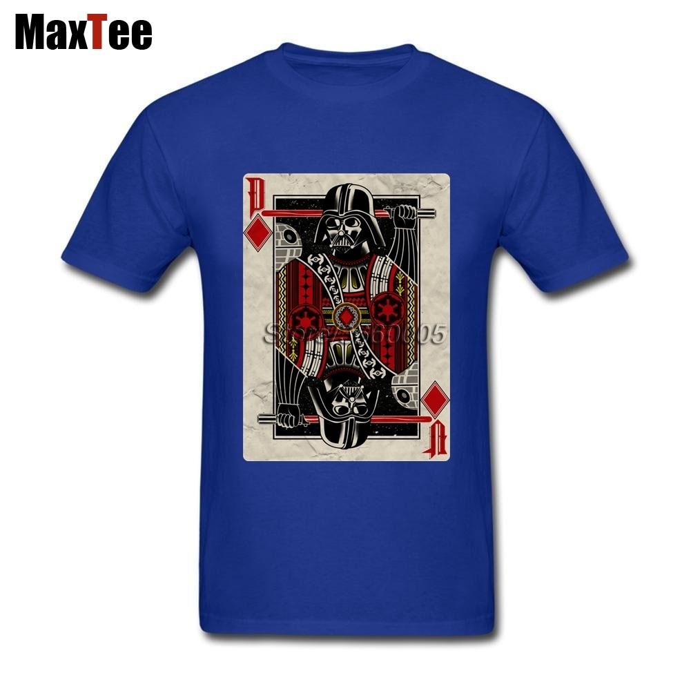 Star Wars Darth Valder Tee Shirt Men Funny Custom Short Sleeve Boyfriends Big Size Party Vintage Poker Camiseta