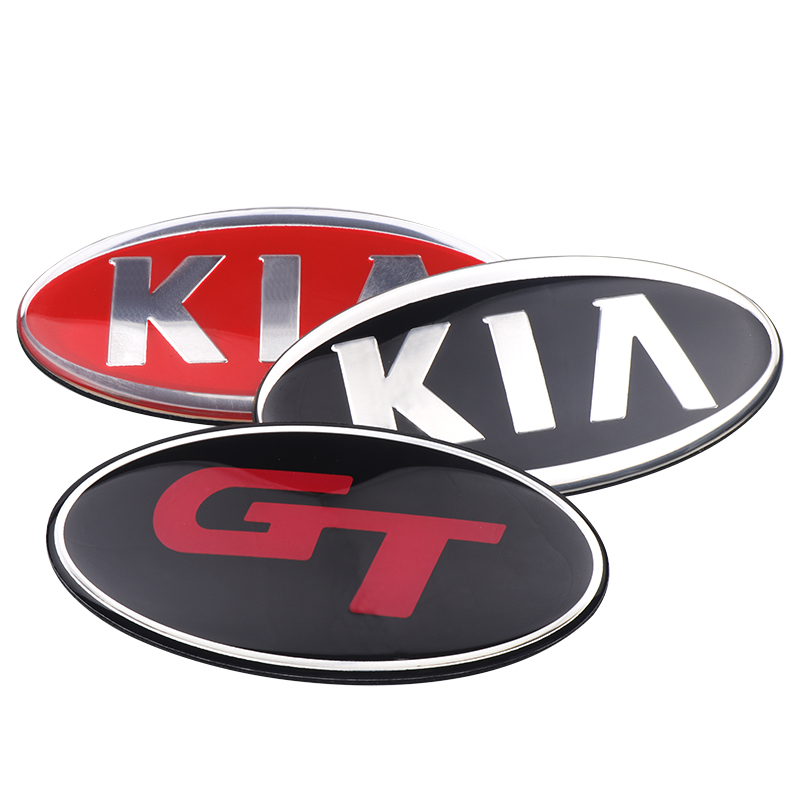 Image 4 - 8.5x4.3cm 3D sticker Car Front Rear Steering Wheel Badge Emblem For KIA OPTIMA K2/K3/K4/K5 Venga Car Accessories-in Car Stickers from Automobiles & Motorcycles