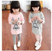 Cartoon Pink Bunny Clothing Set For Girls