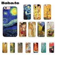 Babaite Kiss Gustav Klimt Van Gogh Starry Night Star PhoneCase for iphone 11 Pro 11Pro Max 6S 6plus 7 8Plus X Xs MAX 5S XR