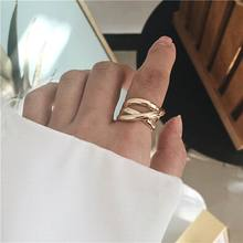 Hip hop Fashion Rings For Women Personality Statement Open Ring Jewelry 2019 Chic Bijoux chic feather ring for women