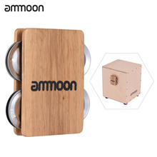 ammoon Cajon Box Drum Companion Accessory 4-bell Jingle Cast