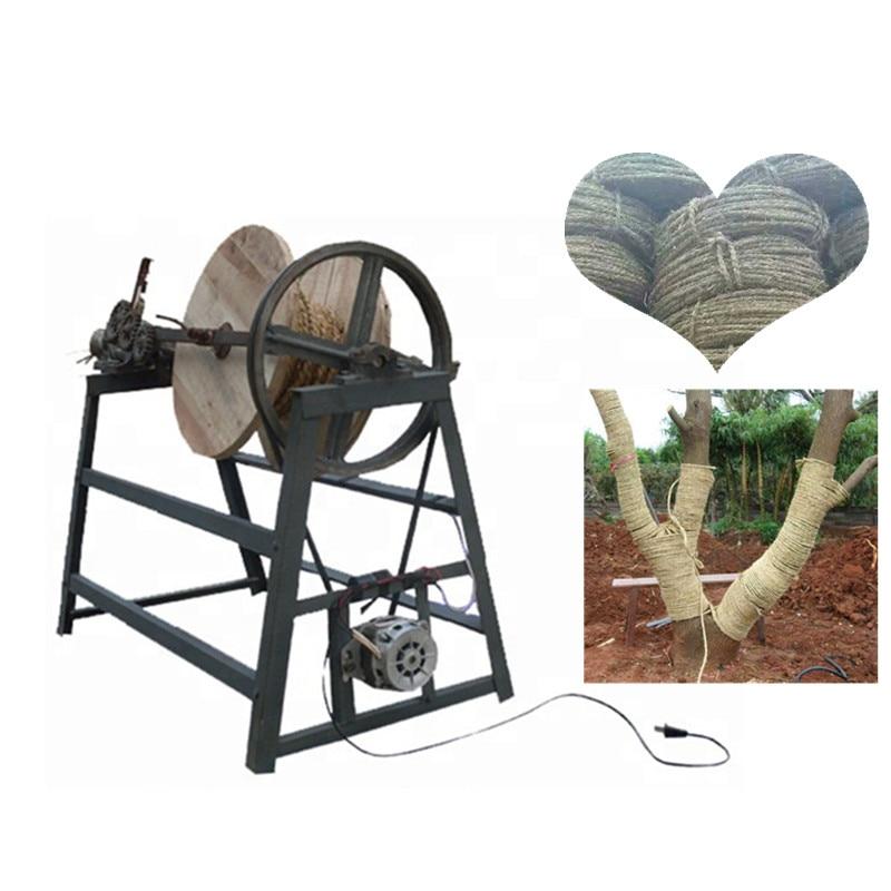 Semi automatic rice stalk straw rope making machine straw braiding machine price - 5