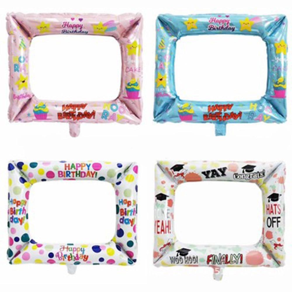 "NEW  Milestone Birthday  Photobooth Sweet 16 Inflatable Foil Selfie Frames 23/""//5"