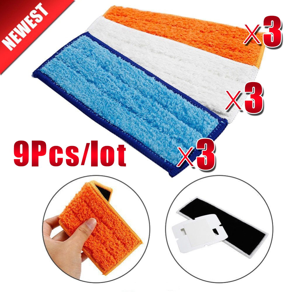 9Pcs/lot Top quality Robot cleaner brushes spare parts Wet Pad Mop+Damp Pad Mop+Dry Pad Mop for iRobot Braava Jet 240 241 цена 2017