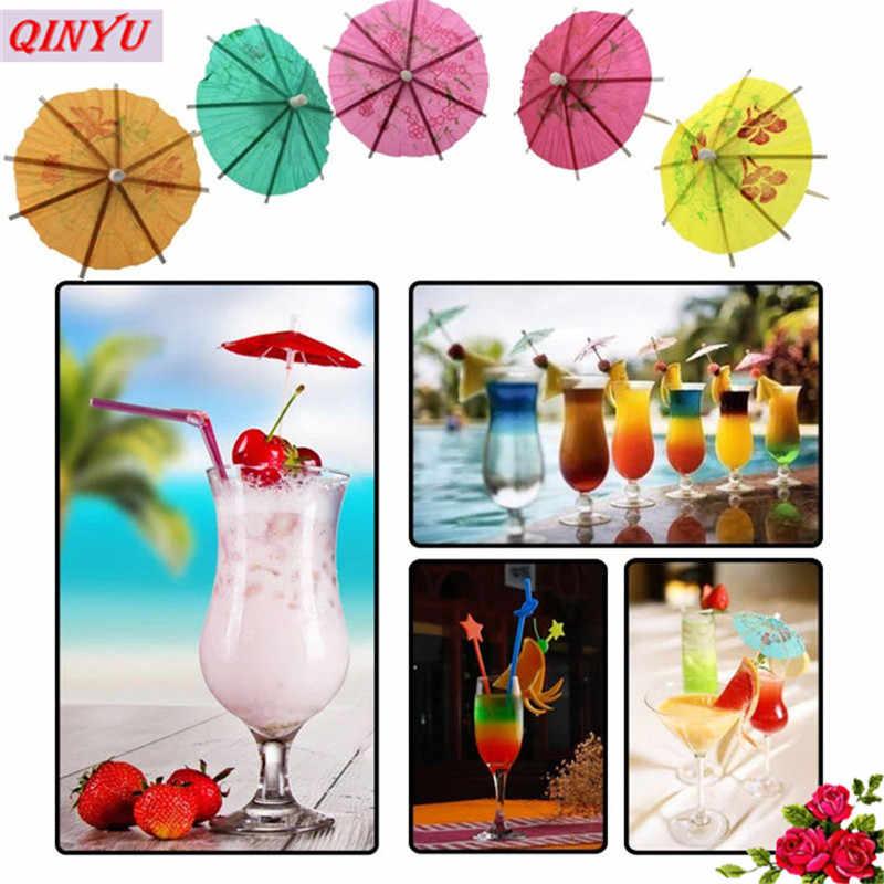 Лидер продаж, 50 шт в наборе, стакан для прохладительных напитков/Коктейльные зонтики/Зонты Луо палочки Хэллоуин/Рождество/Свадебная вечеринка Supplies10cm смешанные Цвет 5zSH915