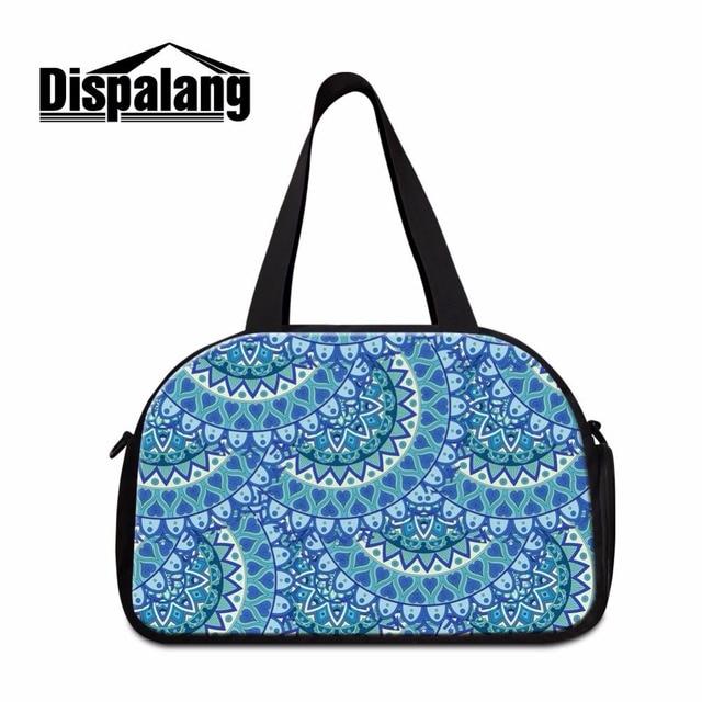 Dispalang mujeres bolsa de viaje bolsa de lona del hombro estampado de flores bolso de las señoras bolsos de equipaje organizador portátil de viaje necesarios