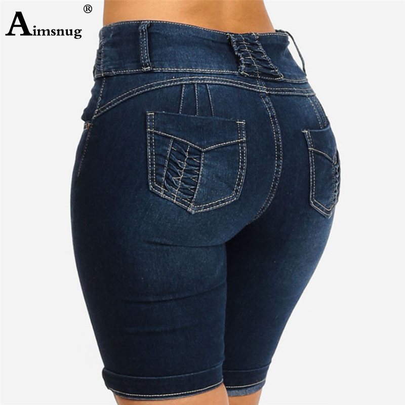 Plus Size S-5xl Denim Skinny Jeans For Women Solid Color Cuffs Ripped Jeans 2019 New Female Butt Lifter Knee Length Pants Jeans