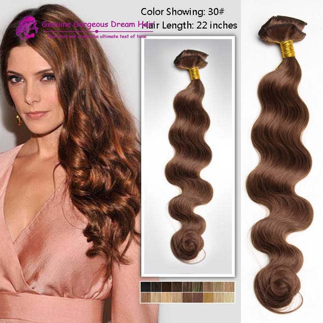 14 16 18 20 22 22 24inch Light Auburn Wavy Human Hair Extension Clip