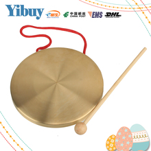 Yibuy Alto Hand Gong Chapel Copper Cymbals Percussion 15.5 Diameter Opera Gong