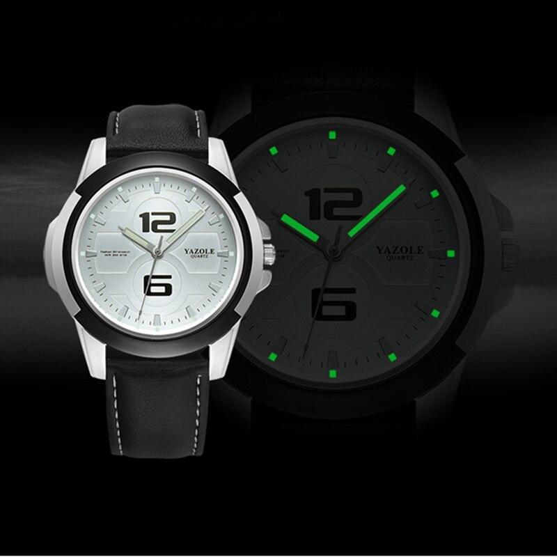 YAZOLE Men's Luminous Watches Waterproof Sport Watch Men Watch Top Brand Men's Watch Clock saat relogio masculino reloj hombre все цены