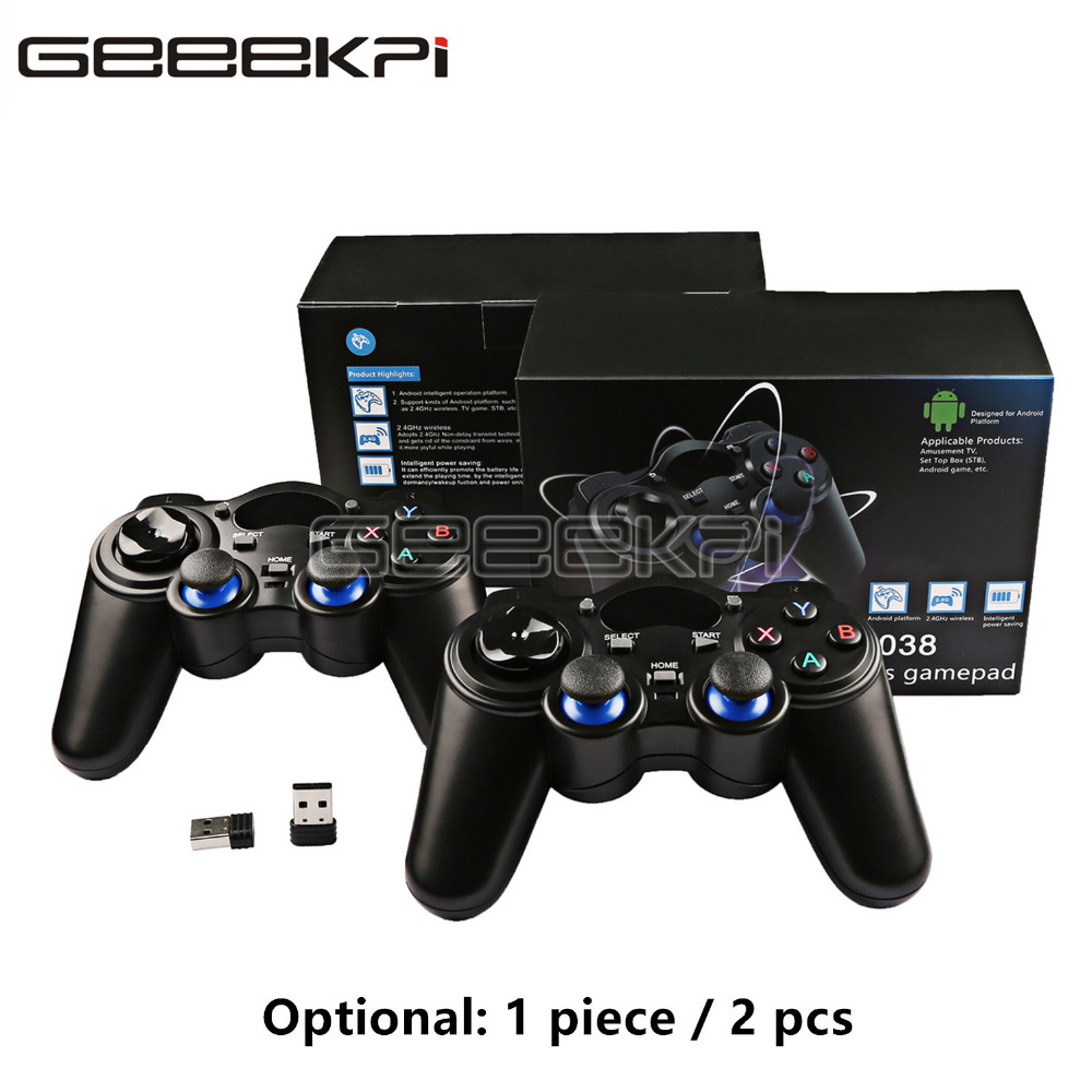 GeeekPi New 2.4GHz Wireless Gamepad Game Controller For PC, Raspberry Pi, RetroPie, Android Smart TV Box, Tablet PC, PS3
