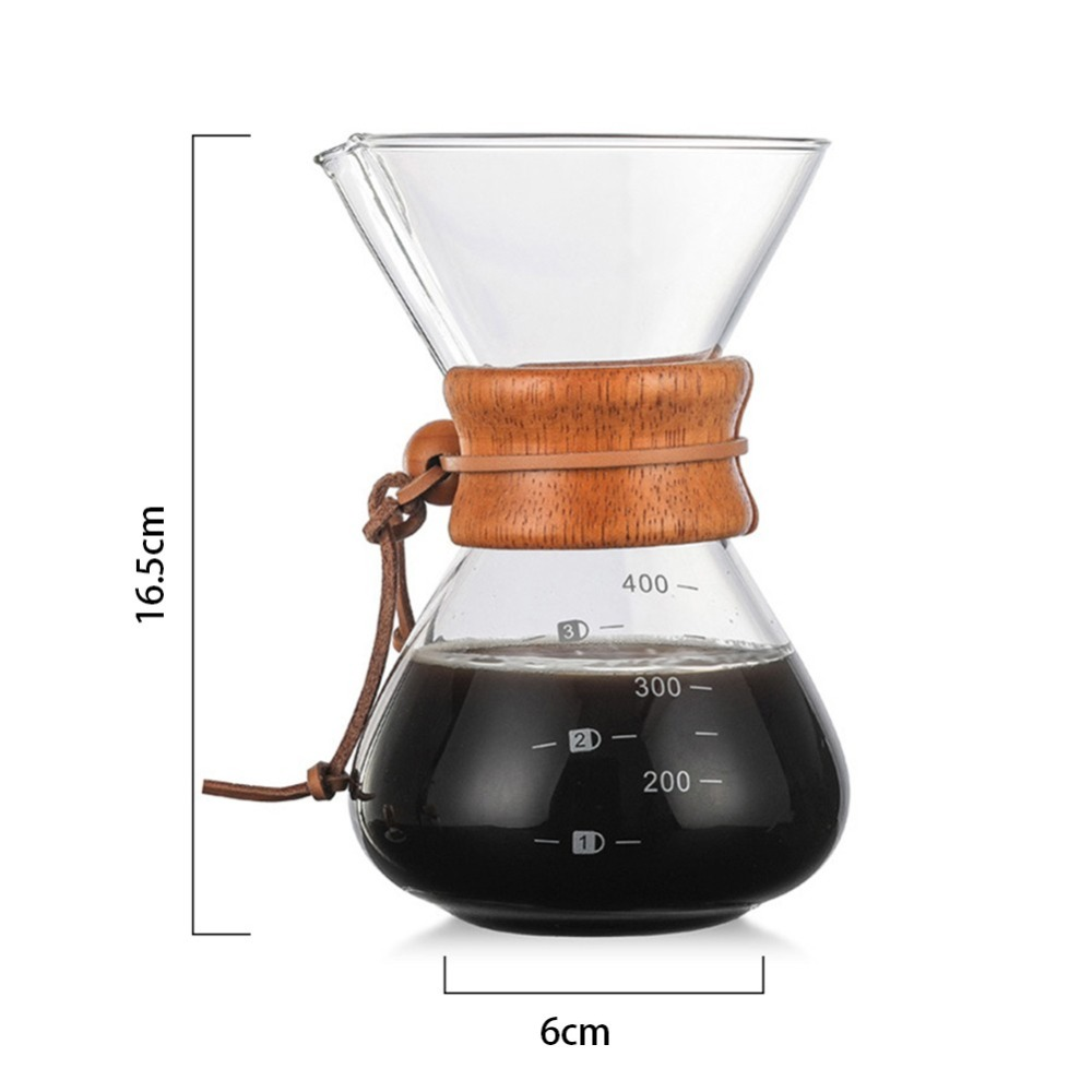 Glass Coffee Pot Wholesale High Temperature Resistant Coffee Maker Espresso Coffee Machine with stainless steel filter pot in Coffee Pots from Home Garden